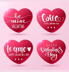 hearts inscription vector image