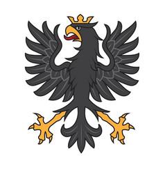 heraldic black eagle with crown vector image