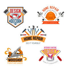 icons of work tools for house repair vector image