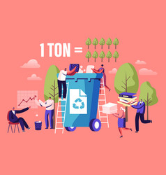 Less paper using stop deforestation and trees vector