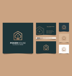 Logo modern poker house for construction home vector