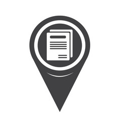 map pointer book icon vector image