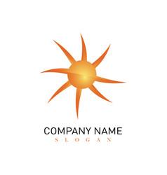 Modern sun logo vector