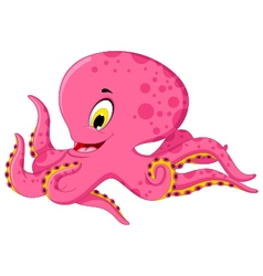 octopus cartoon for you design vector image