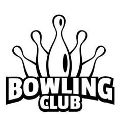 Old bowling logo simple style vector