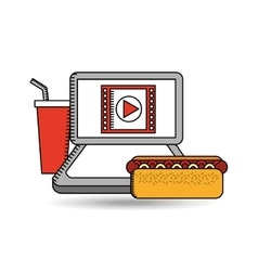 online movie fast food design vector image
