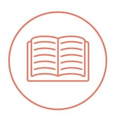 Open book line icon vector