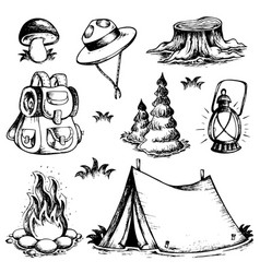 outdoor theme drawings collection vector image