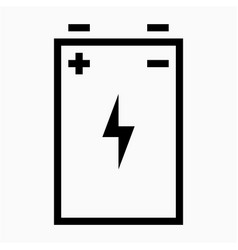 Outline beautiful phone battery icon vector