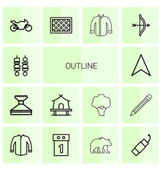 Outline icons vector