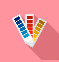 Paper pantone color chart icon flat style vector