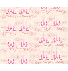 Paris seamless pattern with shoes and flowers vector image