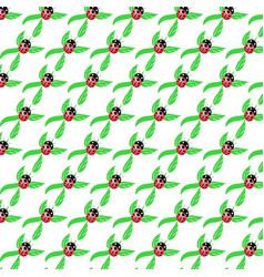 Pattern ladybug vector