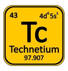 Periodic table element technetium icon vector image