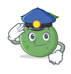 Police guava character cartoon style vector