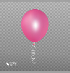 realistic pink balloon isolated on transparent vector image