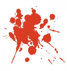 red paint blot vector image