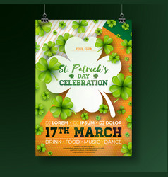 Saint patricks day party flyer vector