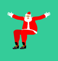 santa claus sitting isolated template christmas vector image