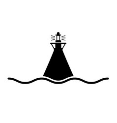Sea mark icon vector