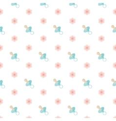 Seamless baby pattern Nipple vector image