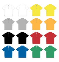 set polo t-shirt design template technical vector image