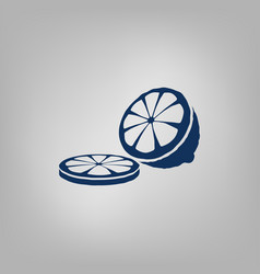 Sliced lemon icon vector