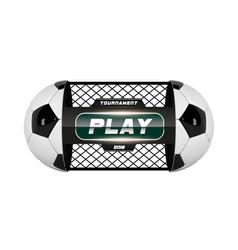 Soccer or football ball isolated on vector