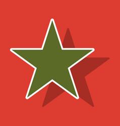 Star sticker icon flat rank favorite web symbol vector