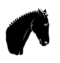 Stylized horse head silhouette with a beautiful vector