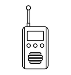 talkie radio icon outline style vector image
