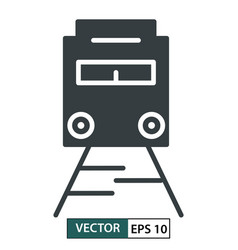 Train icon symbol flat design isolated on white vector