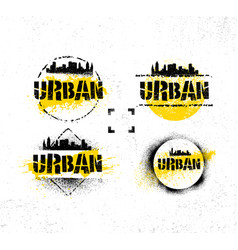 urban hipster photography contest rough rustic vector image
