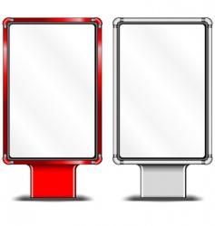 vertical billboards vector image