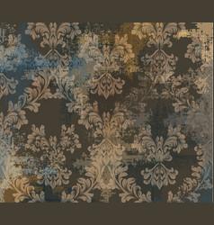 vintage classic ornament decor background vector image