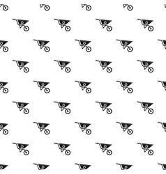 Wheelbarrow pattern simple style vector