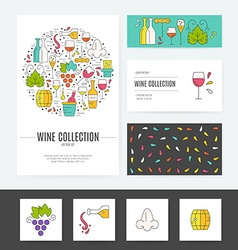 Wine Business Identity vector
