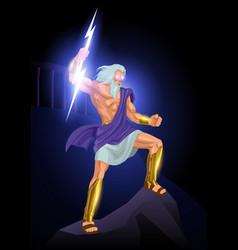 zeus father gods and men vector image