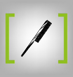comb sign black scribble icon in citron vector image