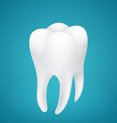Healthy human tooth on blue background vector image vector image