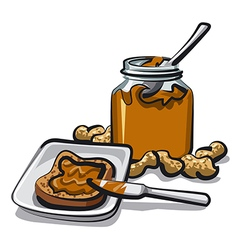 peanut butter vector image