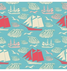 voyage seamless background vector image