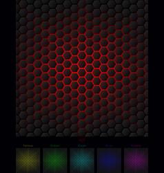 hexagon background six isolated variants vector image