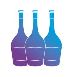 line wine bottles beverege element vector image vector image