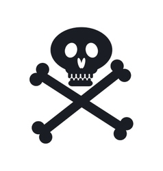 pirate skull isolated icon vector image