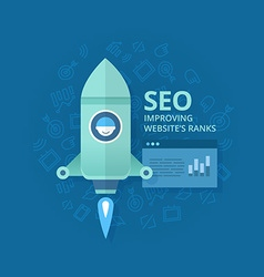 Seo Concept of Website Optimization vector image vector image