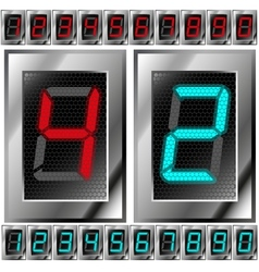 set of electronic digits vector image vector image
