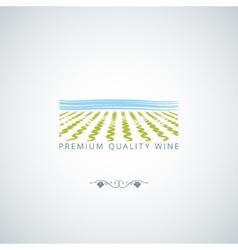 wine field background vector image vector image