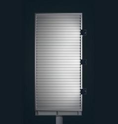 Blank advertising vertical billboard vector