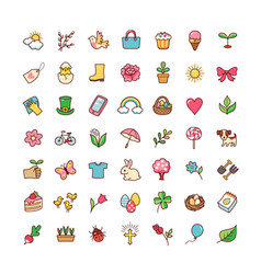 icons springtime vector image vector image